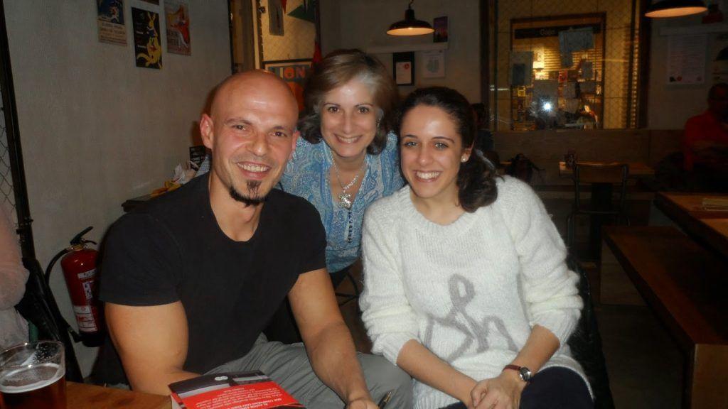 Foto de lector a lector con César Pérez Gellida